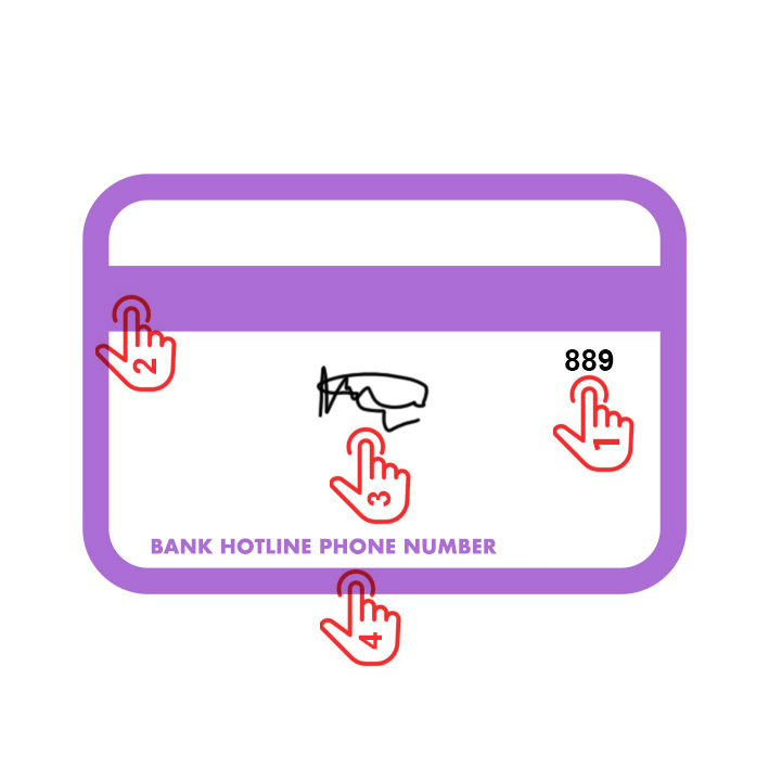 Credit card back side