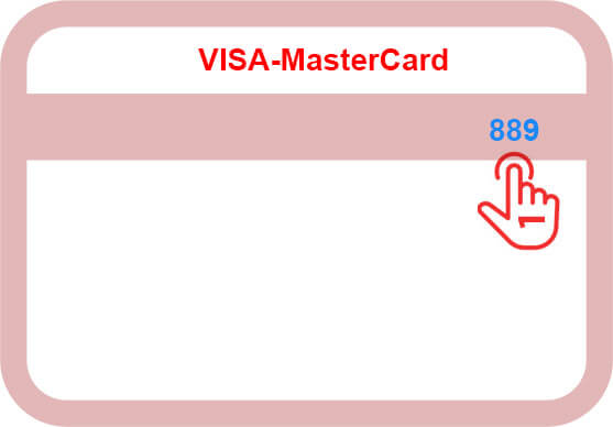 CVC or CVV number of credit card
