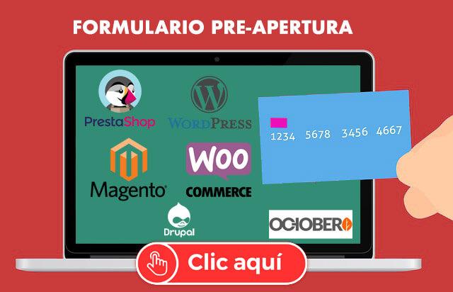 Formulario Pre-Apertura TPV virtual online